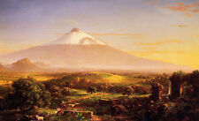 Art Oil painting Thomas cole - Mount Etna with Shepherd at sunset landscape