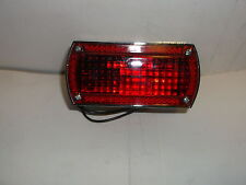 CUSTOM CHROME NIGHTLIGHT COMPLETE TAILLIGHT WITH NUMBER PLATE DOWN LIGHT