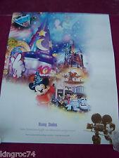 "NEW-MINT- 2003  Walt Disney's ""DISNEY STUDIO"" ""100 Years of Magic""poster"