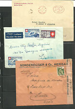 Suiza. Conjunto de 3 sobres circulados