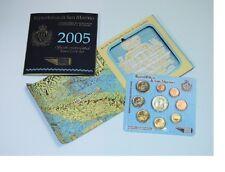 """**San Marino  - FDC SET 2005  - 0,01  -- 2 euro + 5 Euro """"Onofri"""" / 9 munten"""
