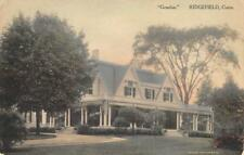 "RIDGEFIELD ""Graeloe"" Mansion, Connecticut ca 1910s Hand-Colored Vintage Postcard"