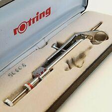 Vintage ROTRING pair of compasses drafting ENGINEER tool SET f Isograph nib pen