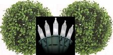 """Artificial 10"""" Boxwood Ball Topiary Christmas Tree In Outdoor with Holiday Light"""