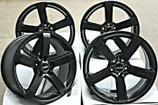 "19"" BLACK BLADE ALLOY WHEELS FOR 5X112 AUDI A6 A8 Q2 Q3 Q5 TT QUATTRO ROADTSER"
