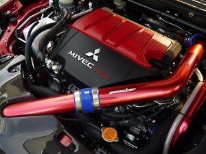 NEW MITSUBISHI LANCER EVOLUTION EVO X FULL UPPER INTERCOOLER RED RACING PIPE KIT