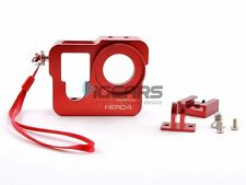 Red Aluminum Skeleton Rugged Cage Protective Housing Case for GoPro Hero 4