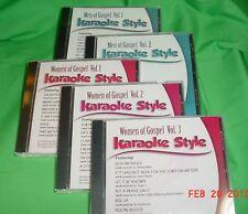 Men of Gospel #1 & 2 & Women of Gospel #1, 2 & 3 ~Christian ~Karaoke Style ~CD+G