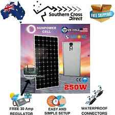 12 Volt 250W Solar Panel Generator Battery Charging Kit