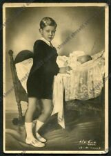 VITTORIO EMANUELE DI SAVOIA 06 Cartolina VIAGGIATA 1943 REAL PHOTO