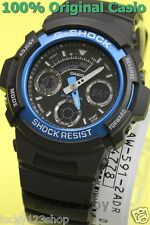 AW-591-2A Blue G-Shock Men's Watch Casio Digital Analog Plastic Band 200m New