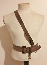 Original WW2 British Army Officers Leather Sam Browne Belt