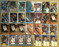 Larry Johnson LOT of 28 insert base cards NM+ 1992-1997 Charlotte Hornets Ultra