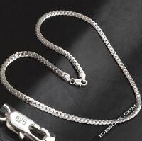 925 Sterling Silber Kette Massiv Panzerkette Königskette Damen Herren 50cm lang