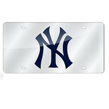 New York Yankees Mirrored Laser Cut License Plate Laser Tag