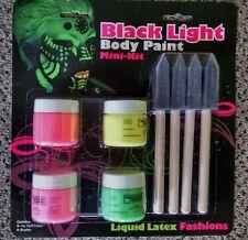 Black Light Body Paint Mini Kit  With Brushes Liquid Latex Fashions Kit