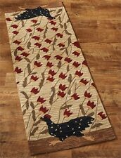 """Chicken Run Area Rug Hand Hooked 24"""" x 72"""" Rug. Country Rug by Park Designs."""