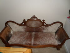 COWHIDE WESTERN LODGE SOFA COUCH ANTIQUE COWBOY