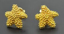 Vintage Tiffany & Co Italy 18k Yellow Gold Textured Starfish Stud Earrings