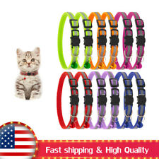 12 Pack Reflective Cat Collar with Bell Nylon, Kitty Collar Adjustable