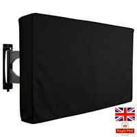 Outdoor Waterproof TV Cover Black Television Protector For 22'' to 70'' LCD LED