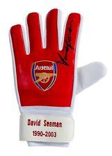 More details for signed david seaman arsenal goalkeeper glove limited edition aftal coa