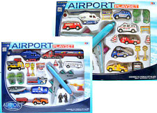 Airplane Toy Set PlaySet Airport Signs Cars Helicopter Jugete Aviones - 20PC Set