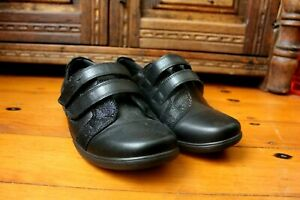 Padders VERSE Black Leather Shoes Size 40 Office Dress Comfort New Orthopedic