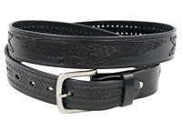 "Western Eagle X Hand Woven Genuine Leather Belt 1-1/2"" Wide-Black Style 10223"