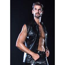 Patrice Catanzaro - Paco - Chemise homme sans manches en wetlook aspect cuir