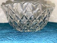 Waterford Irish Crystal- Eastridge Bowl W/Saw Tooth Rim