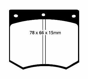 DP2291 EBC Greenstuff Front Brake Pads fit AC AUSTIN CHEVROLET(S.Africa)  DE LOR
