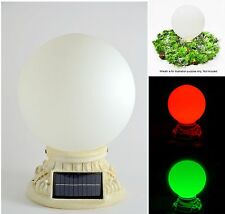 "Homebrite Solar Power 10"" Glass Globe Light with Christmas Color Path Entry Post"
