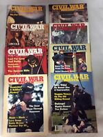 Civil War Times Lot of 8 Illustrated 1984 80s Magazines History Vintage
