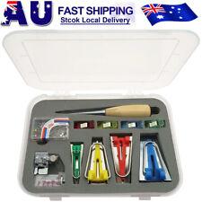 16pcs Fusible Bias Binding Tape Maker Sewing Quilting Awl Binder Foot Tools Kit