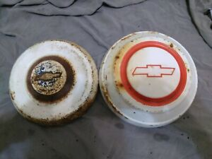 (2)VINTAGE 1967 1968 Chevy C10 Pickup Truck DOG DISH HUBCAPS