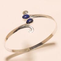 Lapis Lazuli Cuff 925 Silver Overlay Free Shipping Handmade Fashion Jewelry
