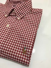 Ralph Lauren Men's 100% Cotton Stretch Red And White Check Shirt Size XXL