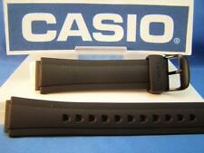 Casio Watch Band AW-S90 Tough Solar Black Rubber Strap