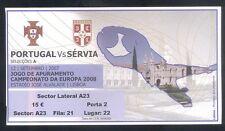 Ticket - PORTUGAL - SERBIA - Qualify to EURO2008