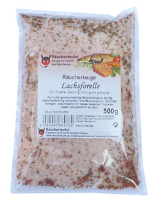 Räucherlauge Lachsforelle 500g, Räucherlake (Räucherhaken, Matjes, Fischgewürz)