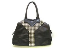 Auth YvesSaintLaurent rivegauche (YSL) Easy 208314 Black Leather Handbag