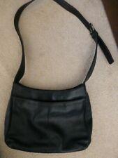 Jones NY black medium leather purse handbag buckle strap