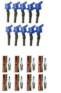 98-2011 CROWN VI FLEXFUEL 8 Ignition Coil 508BLU + 8 Motorcraft Spark Plug SP413