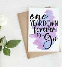 1st Anniversary Card | First Anniversary Card | 1 year anniversary card