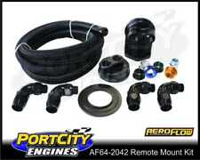 Aeroflow Billet Remote Oil Filter Relocation Kit Black AF64-2042
