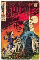 Nick Fury Agent of SHIELD 3 Marvel 1968 VG Jim Steranko