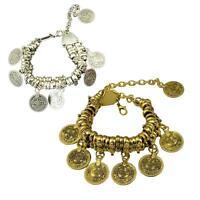 Bohemian Bracelet Ethnic Turkish Tribal Boho Tibet Silver Coin Anklet-Jewelry