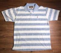 Marlboro Classics Mens Casual Shirt Polo Striped Blue XL