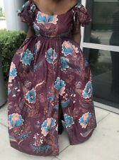 African Ankara Print Custom Made Full Length Off The Shoulder Maxi Dress